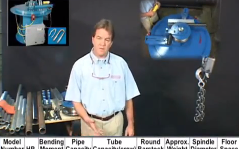 Setup andTraining: Pedrick Model A-7, 2″ Pipe Bender